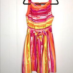 Cheetah B Sundress-Size 12-PleatedSkirt & Neckline